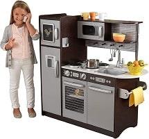 cocina de madera infantil